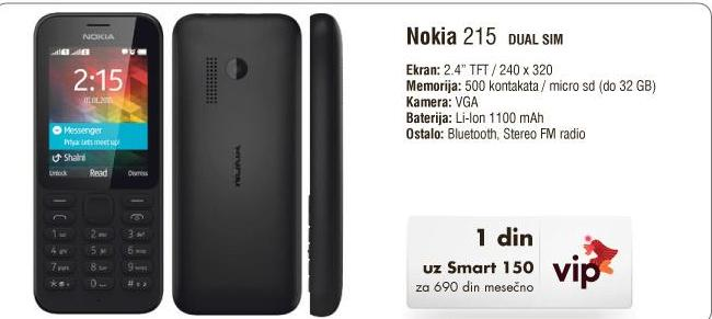 Mobilni telefon 215 DS