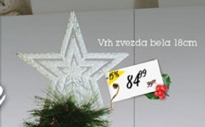 Novogodišnji ukras vrh zvezda