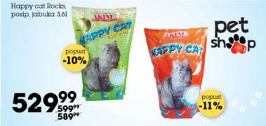 Happy cat Rocks, posip, jabuka