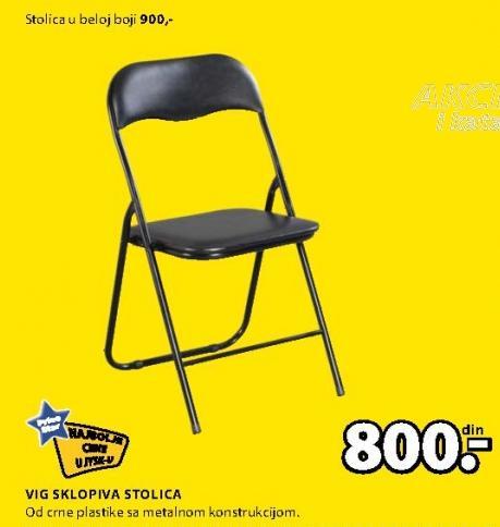 Stolica sklopiva Vig crna