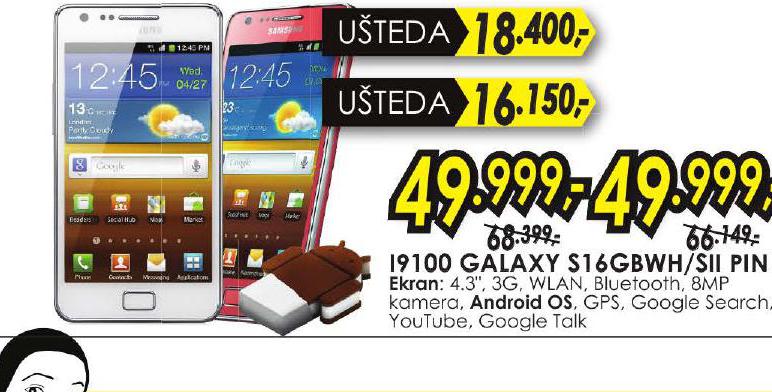 Mobilini Telefon I9100 GALAXY