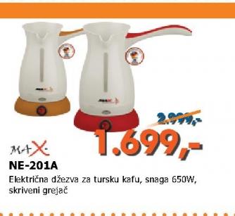 NE 201A ORANGE električna džezva za tursku kafu