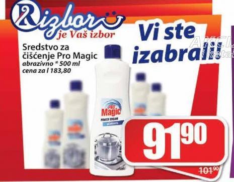 Sredstvo za čiscenje sanitarija Pro magic