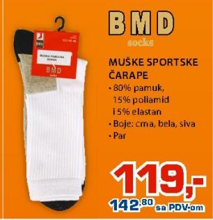 Muške sportske čarape, BMD
