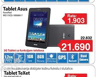 "Tablet FonePad ME175CG-1B008A 7"""