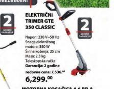 Električni trimer za travu GTE 350 Classic