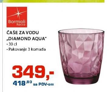 Čaša Diamond Aqua