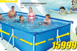 Porodični bazen, pravougaoni