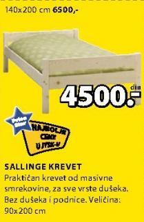 Krevet Sallinge 90x200cm