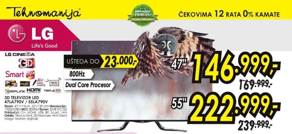 Televizor LED 47LA690S
