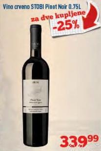Crveno vino Pinot Noir