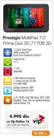 Tablet Multipad 7.0 Prime Duo 3G 710B 3G