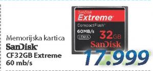 Memorijska kartica CF 32GB EXTREME