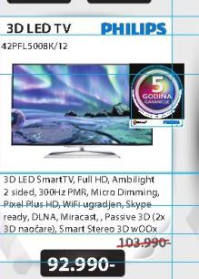 Televizor 3D LED 42PFL5008K/12