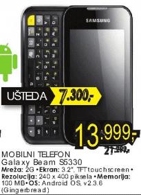 Mobilni telefon S5330 Galaxy Beam