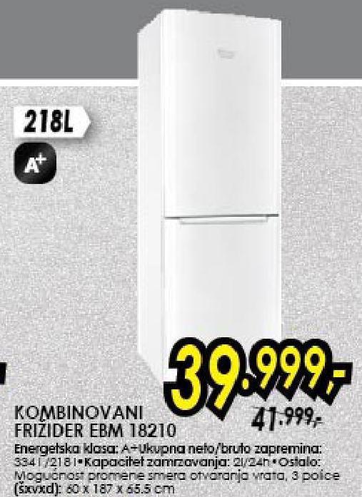 Frižider kombinovani EBM 18210
