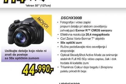 Digitalni fotoaparat Cyber-shot DSC-HX300B