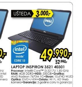 Laptop Inspiron 3521 40301