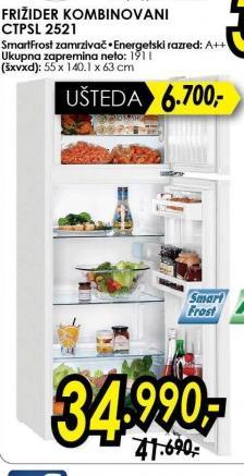 Kombinovani frižider Ctpsl 2521