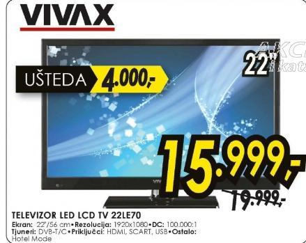 Teelevizor LED LCD TV 22LE70
