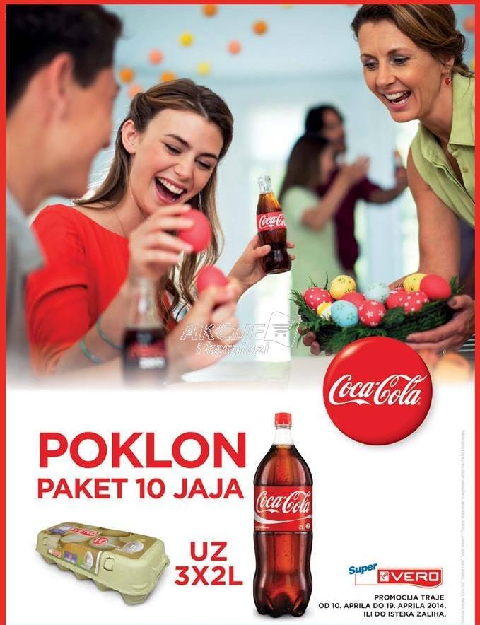 Poklon paket 10 jaja uz kupovinu 3x2l Coca Cola soka!