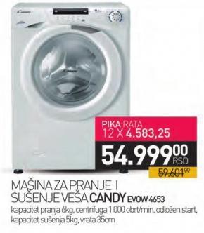 Mašina za pranje i sušene veša Evow 4653