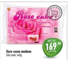 Kore za rozen tortu sa medom