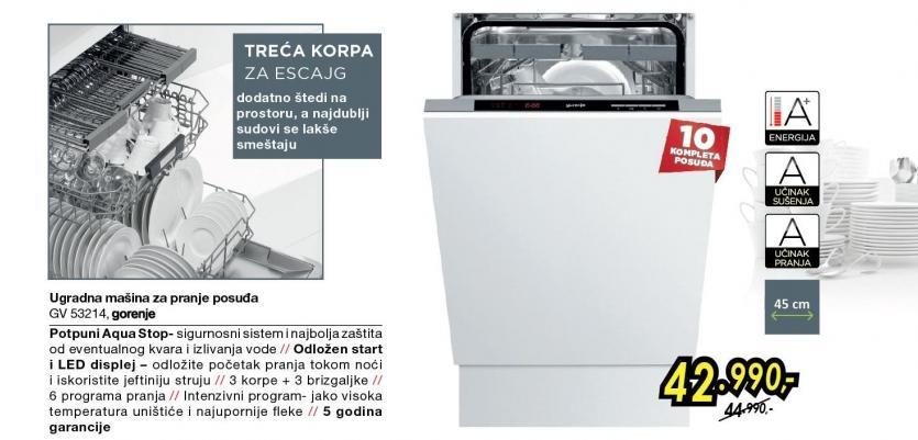 Ugradna mašina za pranje sudova GV 53214