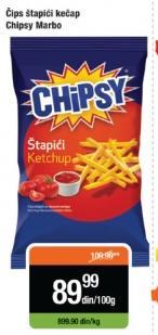 Čips štapići kečap