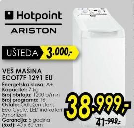 Mašina za pranje veša Ecot7f 1291 Eu