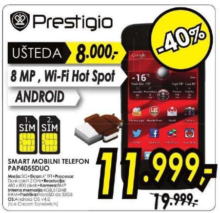 Smart mobilni telefon Pap4055duo