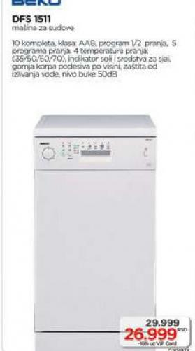 Mašina za pranje sudova DFS 1511