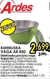 Kuhinjska vaga Ar 850