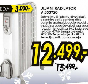 Uljani radijator  V 550920