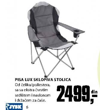 US sklopiva stolica PISA LUX čelik/poli