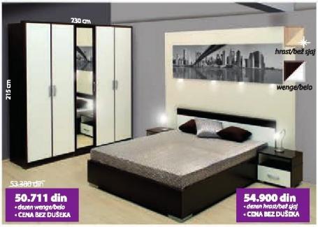 Spavaća soba Verona wenge/belo