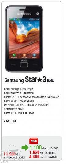Mobilni Telefon Star 3 duos