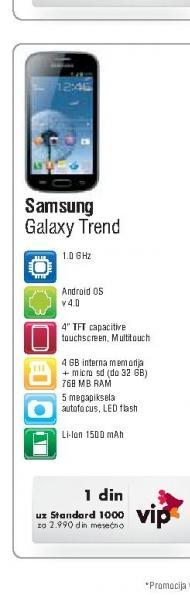 Mobilni Telefon Galaxy Trend