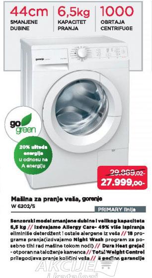 Mašina za pranje veša W6202/S