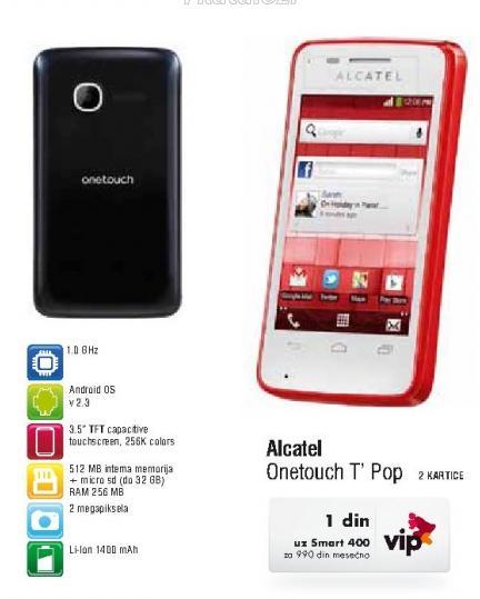 Mobilni telefeon Onetouch T Pop