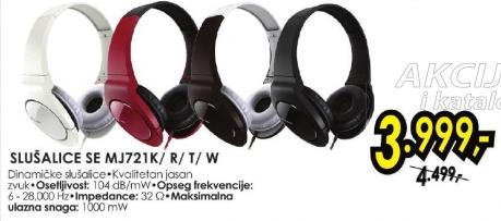 Slušalice Se Mj721k/r/t/w