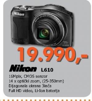 Fotoaparat L610 crni