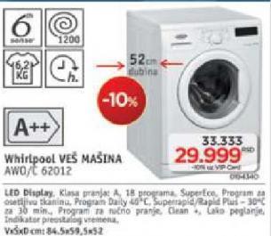 Mašina za pranje veša AWO/C 62012