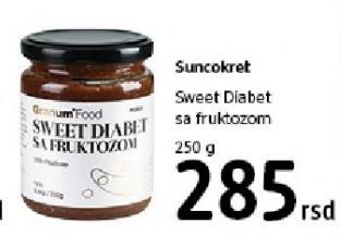 Namaz Sweet Diabet sa fruktozom