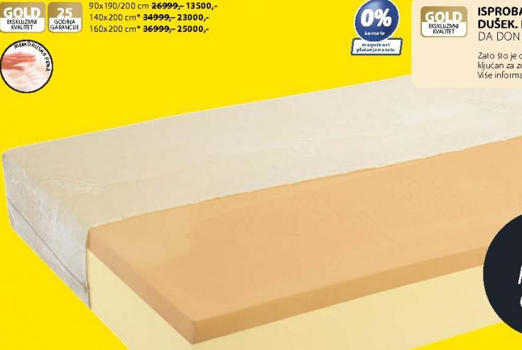 Dušek Gold F30 140x200 cm