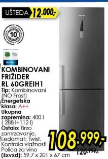 Kombinovani frižider RL60CREIH1