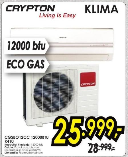 Klima uređaj Cgsb012cc Crypton