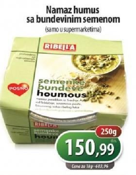 Pašteta humus i seme bundeve