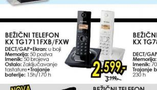 Bežični telefon KX-TG1711FXB