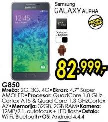 Mobilni telefon Galaxy Alpha G850
